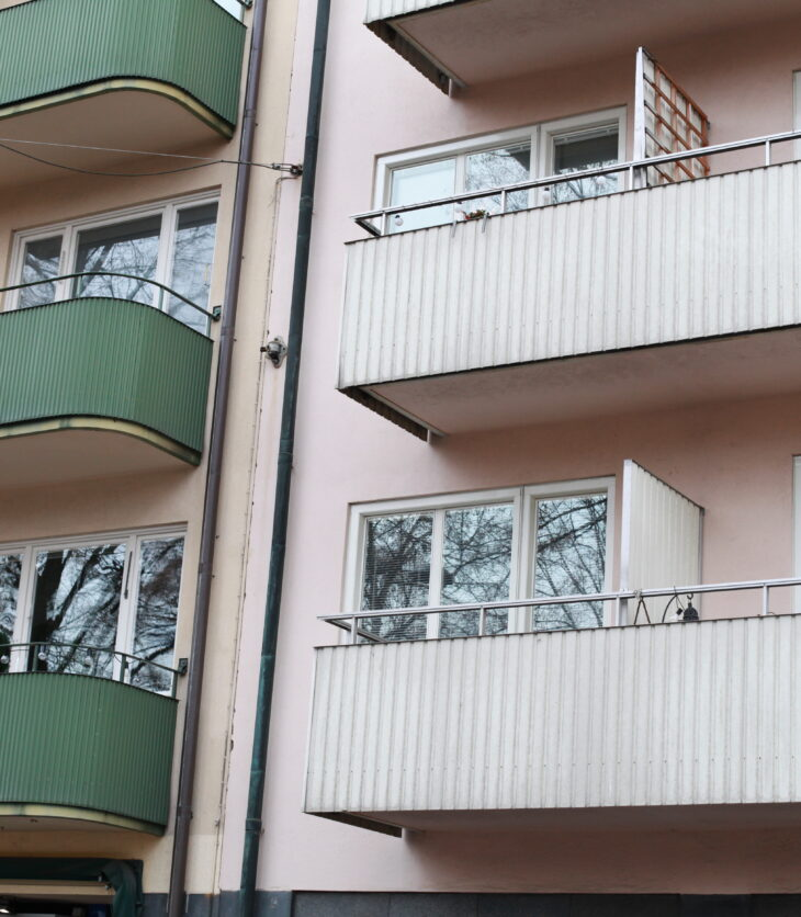 Kontrasterande balkonger