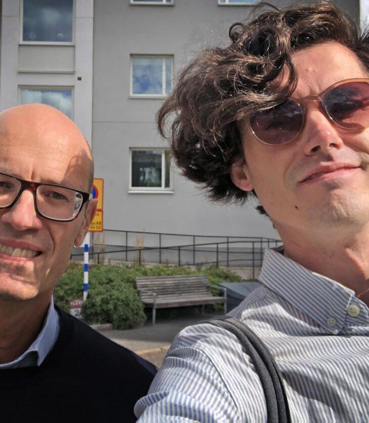 Svenska Bostäders VD Stefan Sundberg och Renoveringsraseriets generalsekreterare Gustav Bergström.