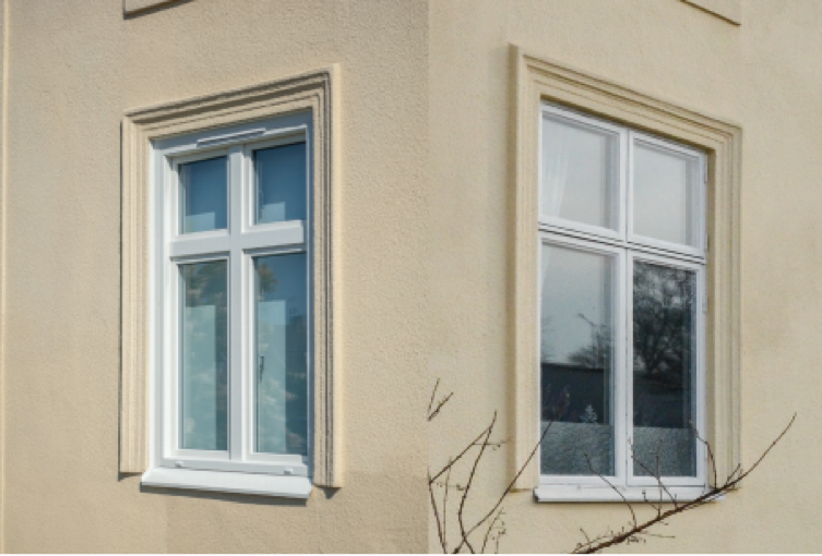 hus fönster nytt och gammalt